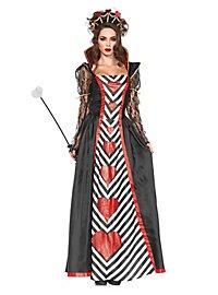 Herzkönigin mit Netzärmeln Kostüm