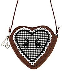 Herztasche schwarz-weiß