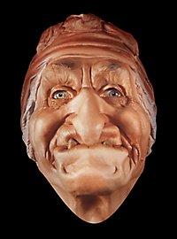 Hexe Babajaga Maske aus Schaumlatex