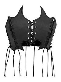 Hexe Lederbustier schwarz