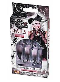 Hexen Fingernägel schwarz