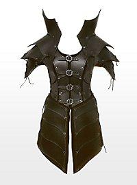 Hexenkriegerin Lederrüstung schwarz