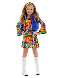 Hippie Mini Dress Child Costume