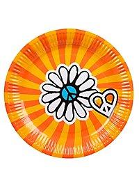 Hippie Pappteller 6 Stück