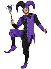 Hofnarr Kostüm schwarz-lila