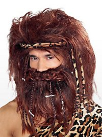 Homme des cavernes Barbe et perruque