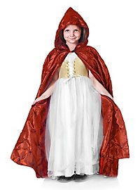 Hooded Cape for Kids quilted red