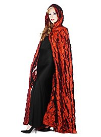Hooded cape quilted red