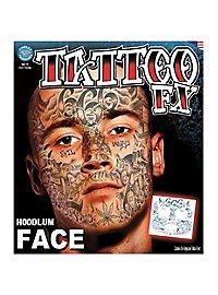 Hoodlum Gesicht-Klebetattoo