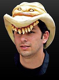 Horror Cowboyhut weiß aus Latex