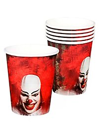 Horrorclown paper cup 6 pieces
