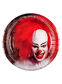 Horrorclown paper plate 6 pieces
