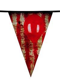 Horrorclown Wimpelkette 6 Meter