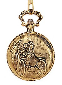 Pocket Watch Horseless Carriage gold