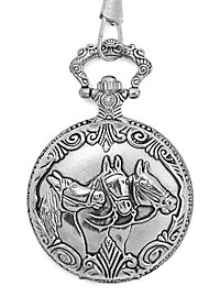 Horses Pocket Watch gold