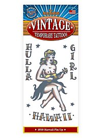 Hula Girl Vintage Klebe-Tattoo