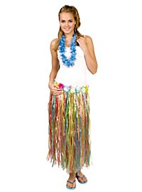 Hula Skirt rainbow Costume