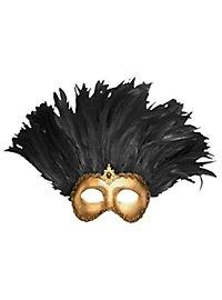 Incas Colombina oro con piume nere - Venezianische Maske