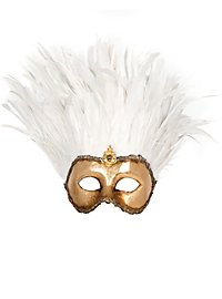 Incas Colombina oro piume bianche Venetian Mask