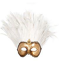 Incas Colombina oro piume bianche Venezianische Maske