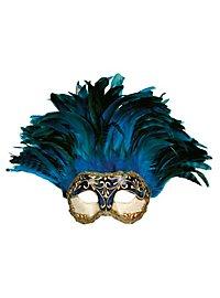 Incas Colombina Stucco craquele blu - Venetian Mask