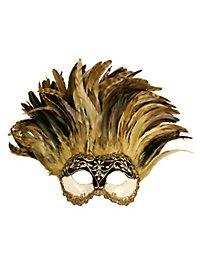Incas Colombina Stucco craquele nero - Venezianische Maske