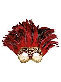 Incas Colombina stucco craquele rosso - Venezianische Maske