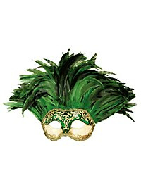 Incas Colombina Stucco craquele verde - Venezianische Maske