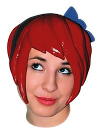 Indie Girl Latex Wig red