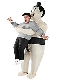 Inflatable Carry Me Costume Sumo