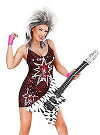 Inflatable Guitar Zebra Pattern