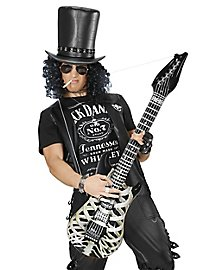 Inflatable skeleton guitar