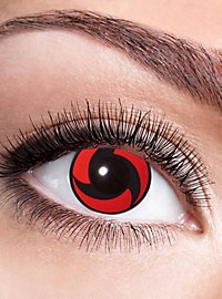 Itachis Mangekyou Sharingan contact lens with diopters