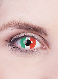 Italy Flag Contact Lenses