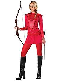 Jägerin Kostüm rot