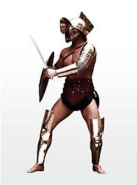 Jambières en métal de gladiateur