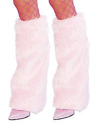 Jambières rose pâle en fourrure