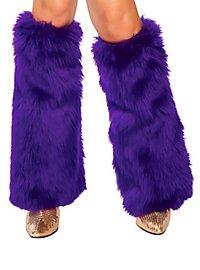 Jambières violettes en fourrure