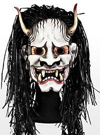 Japanese Hannya Leather Half Mask