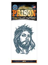 Jesus Knast Klebe-Tattoo