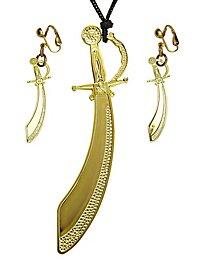 Jewellery set pirate sabre