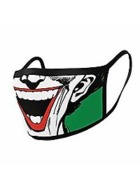 Joker - Joker Grin Stoffmasken Doppelpack