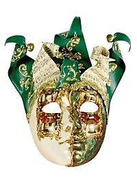 Jolly Carte Femminile verde bianco - Venezianische Maske
