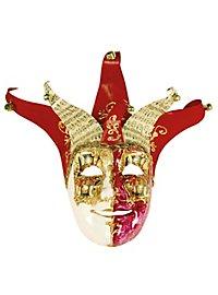 Jolly Carte Maschile rosso bianco - Venezianische Maske