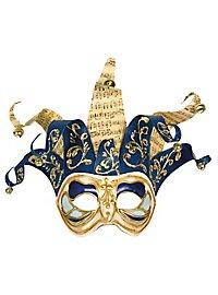 Jolly colombina Monica bianco blu - Venezianische Maske