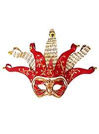 Jolly Colombina Monica Rosso Musica Venetian Mask
