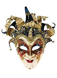 Jolly Grande blu glitter - masque vénitien