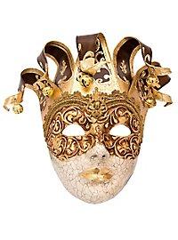 Jolly stucco Craquele cuoio Venetian Mask