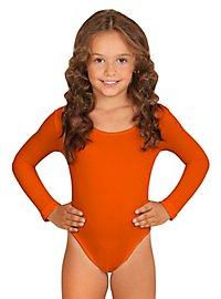 Justaucorps orange pour enfant