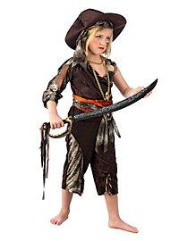 Karibische Piratin Kinderkostüm